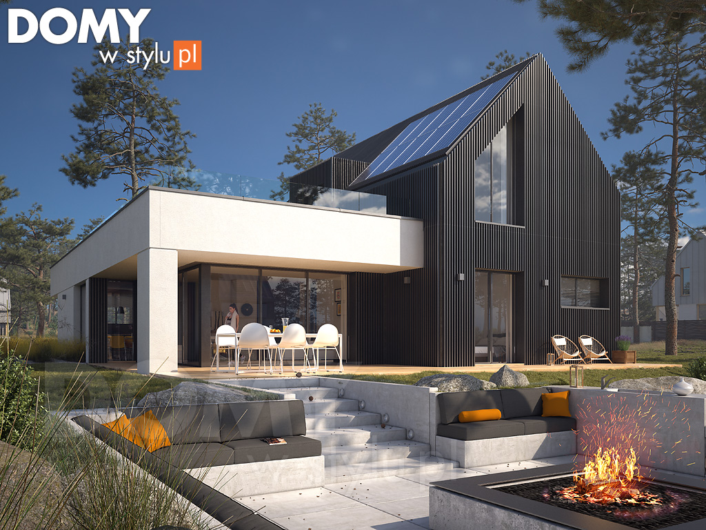 piękny modny projekt domu